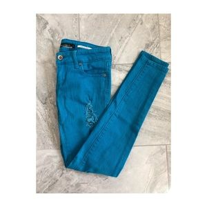 Light blue colored Lovesick Skinny Jeans